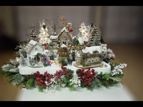 Lady Christmas Builds a Christmas Village, Part 3 of 4