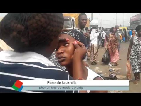 Pose de faux-cils: phénomène de mode à Abidjan