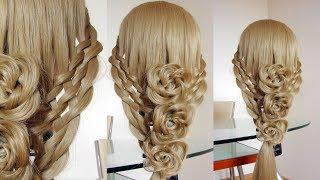 Летняя причёска. Цветы из волос. Видео-урок. Hair tutorial.