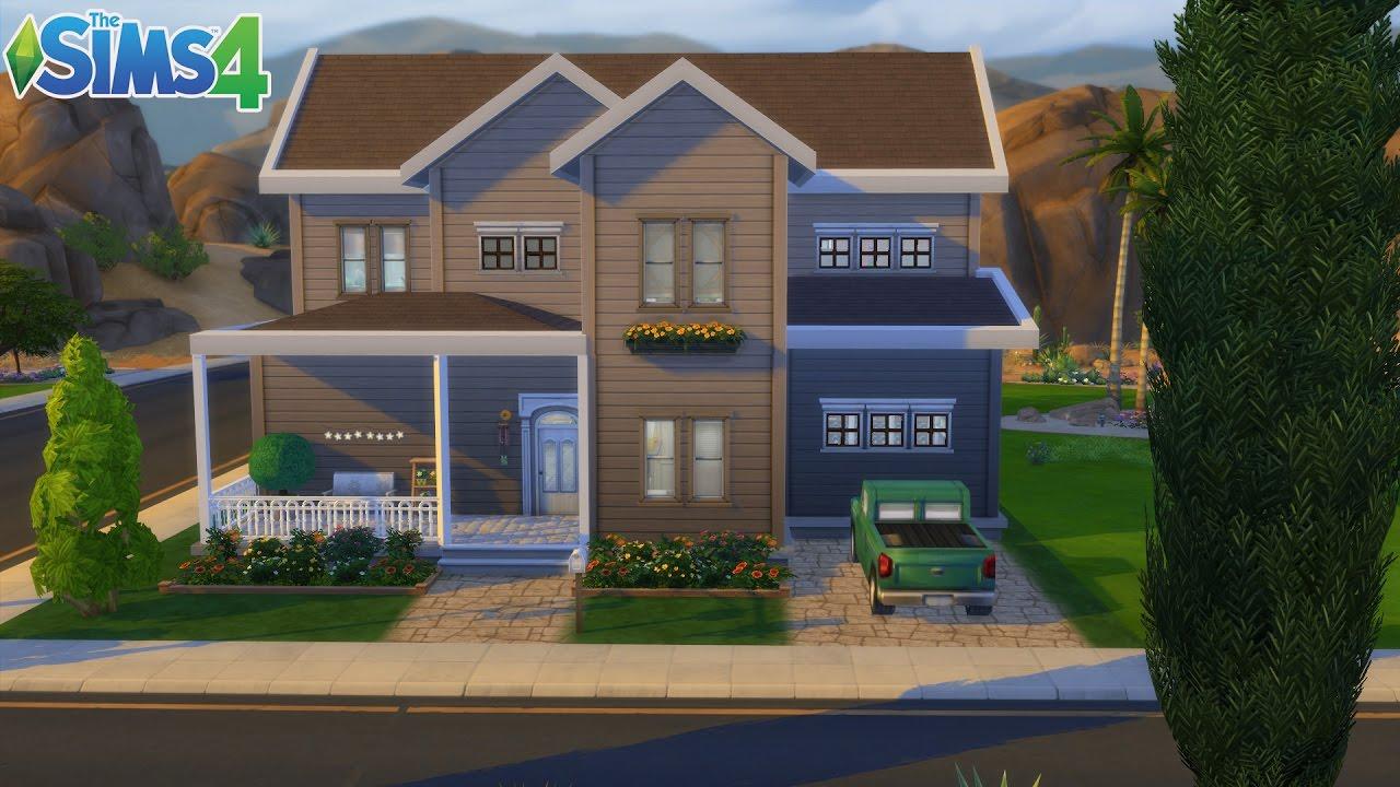Les sims 4 maison familiale d 39 oasis spring sans cc construction speed build youtube for Maison prefabriquee sims 4