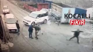 Kocaeli'de 400 bin TL'lik haraç kavgasının şok görüntüleri