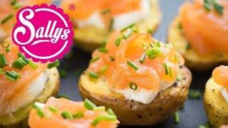 Last Minute Fingerfood: Kartoffeln aus dem Ofen mit Lachs