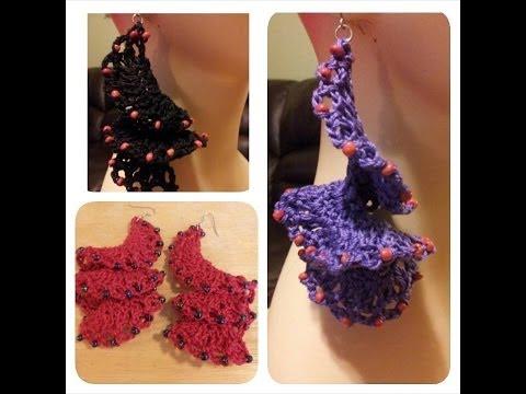 Crochet Tutorial - How To Crochet Flamenco Style Earrings