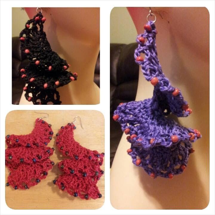 Crochet Tutorial - How To Crochet Flamenco Style Earrings - YouTube