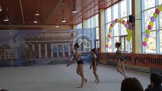 Спортивная акробатика. Новосибирск. КМС. Вольтиж. Ферманчук, Руднева, Удачина