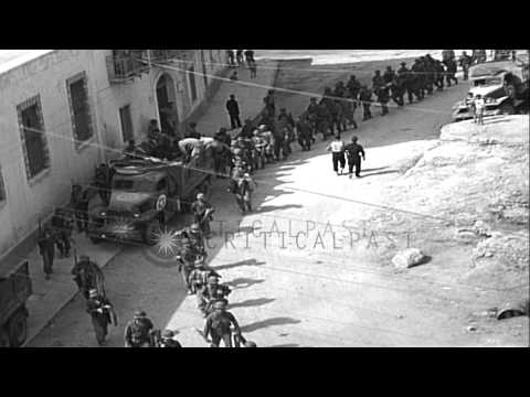 """US Army """"Cobra"""" Division (3rd Div) and 'Cook' Regiment (16th Infantry Division) s...HD Stock Footage"""