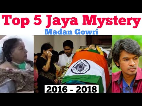 Top 5 Jayalalithaa Mysteries   Tamil   Madan Gowri   MG