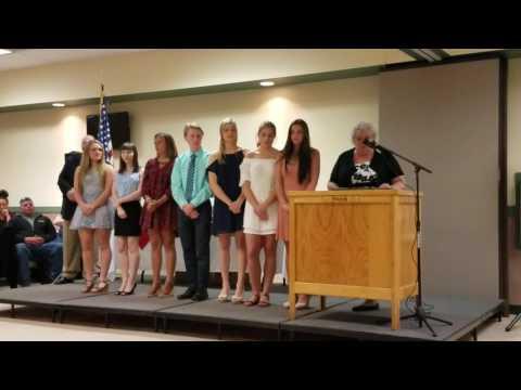 Sanford High School Top 10 class of 2017