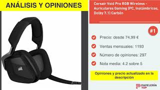 Análisis y opiniones ▷ Corsair Void Pro RGB Wireless - Auriculares Gaming (PC, Inalámbricos, Dolby