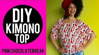 DIY AFRICAN PRINT KIMONO TOP IN 15MIN | NO SEWING PATTERN | DIY CLOTHES