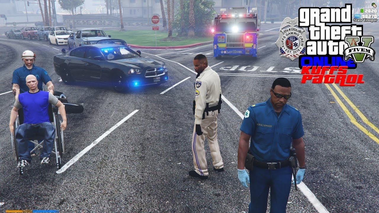 GTA 5 Roleplay #387 Busy Night For Highway Patrol In A Unmarked 2014  Charger - KUFFS FiveM