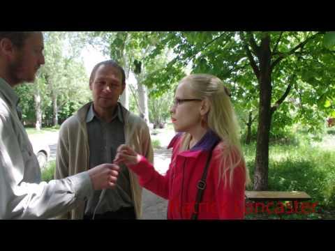 Donetsk, Ukraine Interview Outside the polling station of the Referendum #2