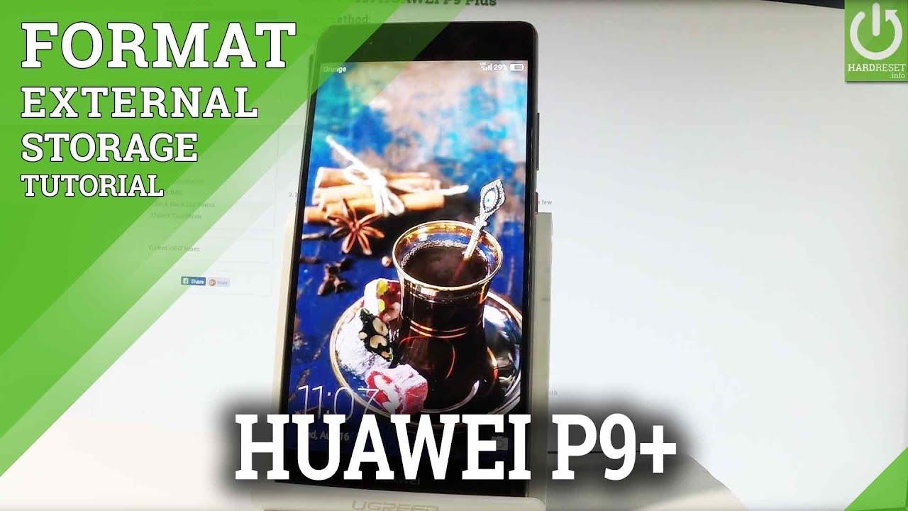 How to Erase SD Card HUAWEI P9 Plus - Format External Storage