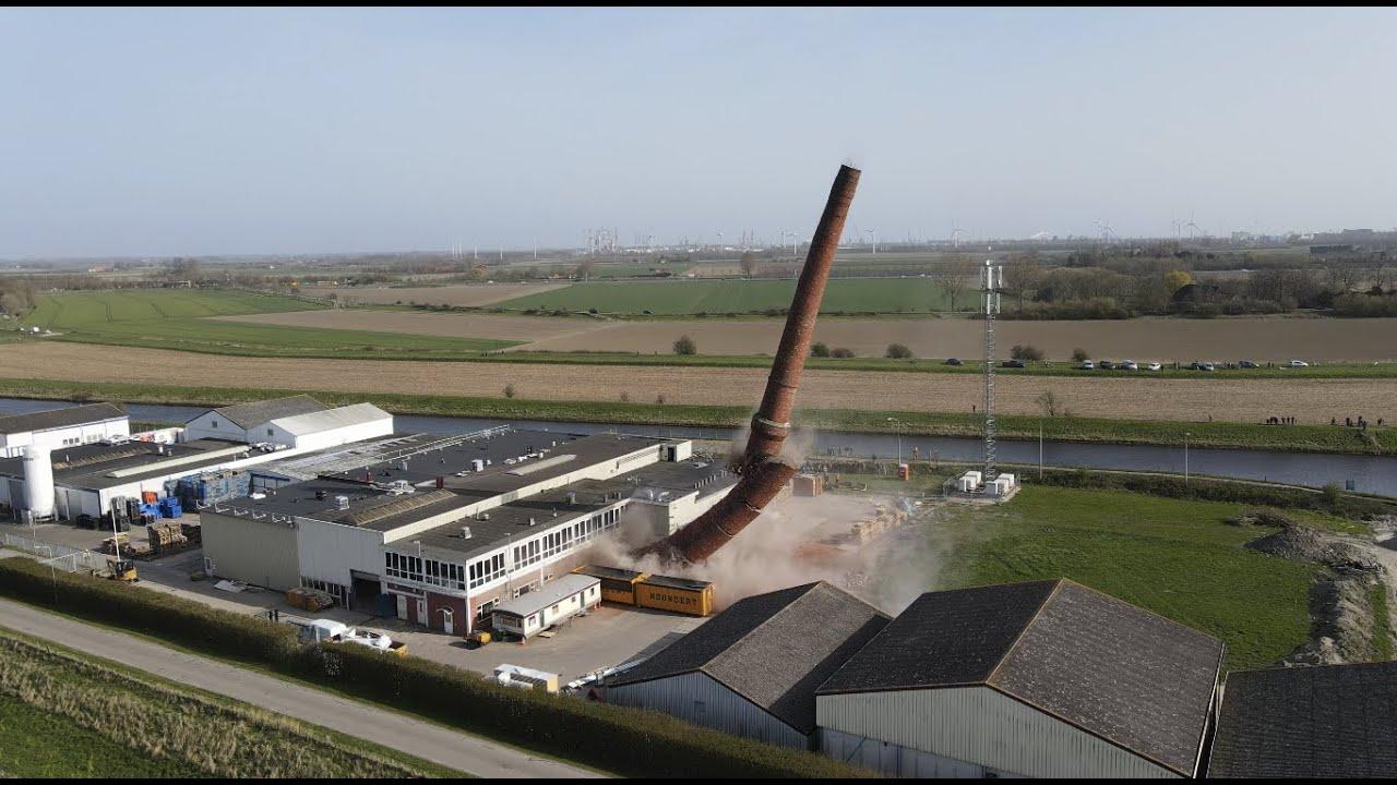 De schoorsteen van Arnemuiden opgeblazen - Zeelandia Garnalen