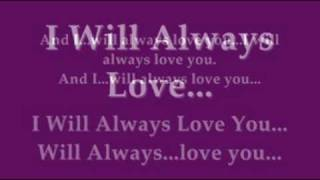 Whitney Houston - I Will Always Love You Instrumental with Lyrics