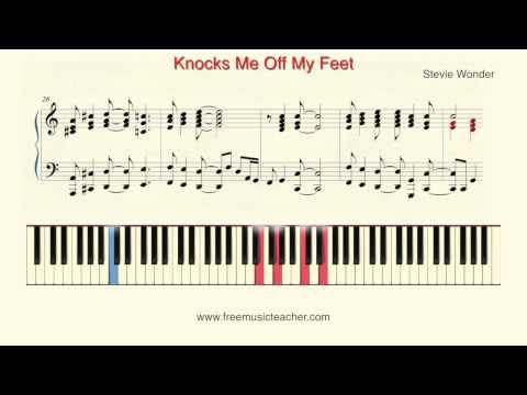 "How To Play Piano: Stevie Wonder ""Knocks Me Off My Feet"" Piano Tutorial by Ramin Yousefi von YouTube · Dauer:  2 Minuten 4 Sekunden"