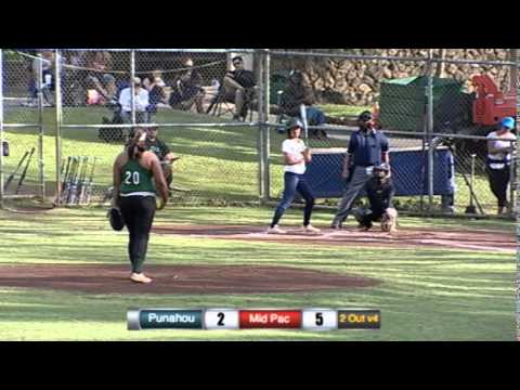 2014 Softball: Punahou vs. Mid-Pacific Institute (March 24, 2014)