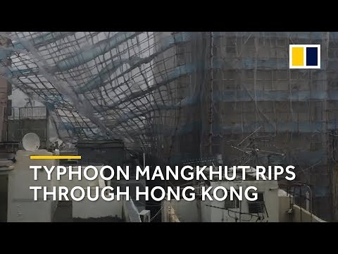 The destruction caused when Typhoon Mangkhut ripped into Hong Kong