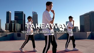 "Gambar cover ""Takeaway"" by The Chainsmokers, ILLENIUM 
