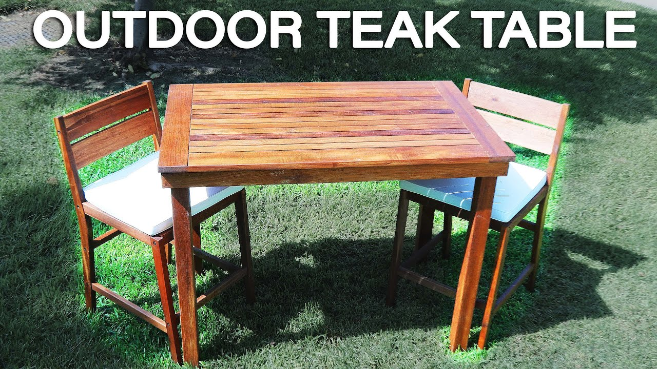 How To Build A Teak Outdoor Table Teak Furniture Youtube