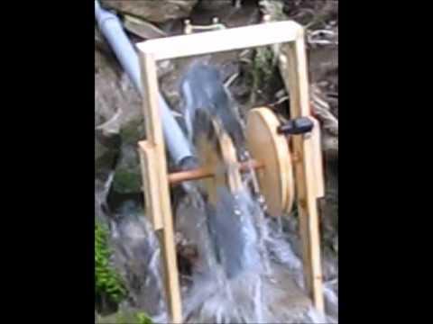 Wasserrad als generator mit einem fahrraddynamo bauen youtube - Fensterladen mit lamellen selber bauen ...