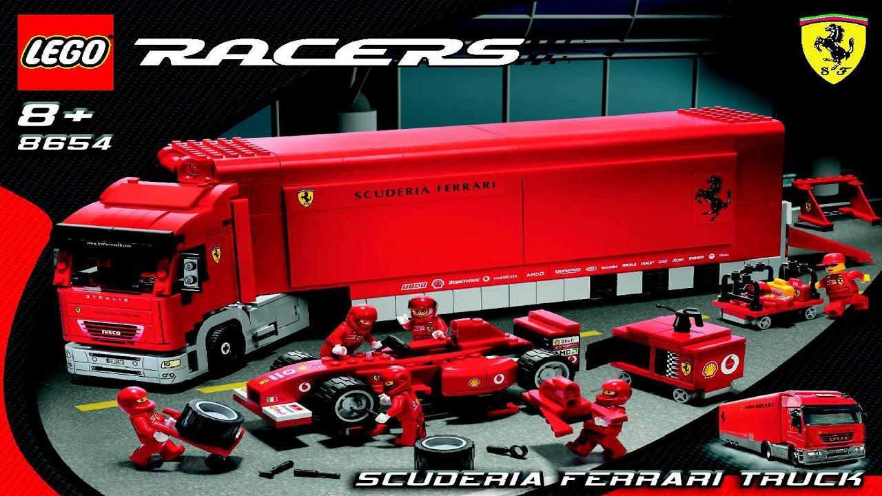 8654 Lgo Ferrari F1 Team Truck Instruction Booklet Youtube