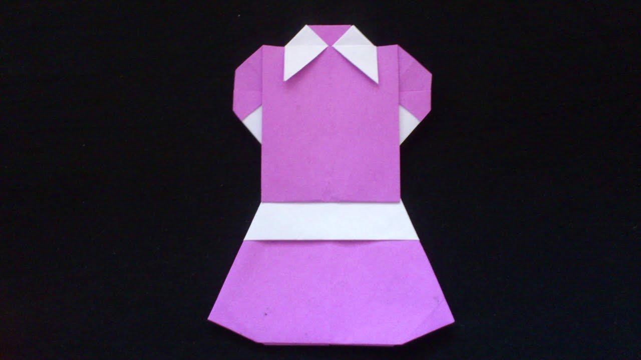 Cara Membuat Origami Baju Pelayan  Origami Baju