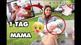 1 TAG MAMA VON BABY - SCHAFF ICH DAS ALLEIN?! | daily VLOG TBATB