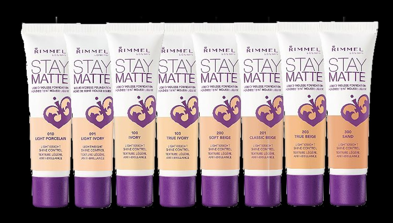 RIMMEL STAY MATTE LIQUID MOUSSE FOUNDATION FIRST ...