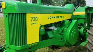 1960 John Deere 730 Diesel Antique Restored Tractor For Sale Walk-Around Inspection!