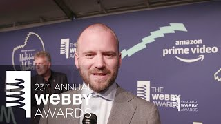 Sean Evans on the Red Carpet at the 23rd Annual Webby Awards