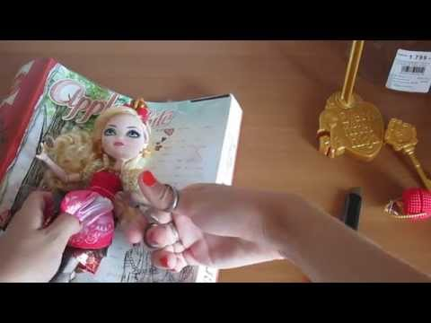 Распаковка куклы Ever After High базовой Apple White