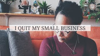 I Quit My Smąll Business | I Closed My Shopify & Etsy Stores