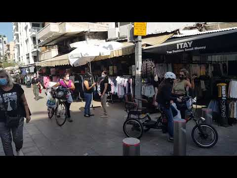 ISRAEL: Street Shops To Open Sunday, With 80,000 Back To Work. A Tour Of The Bezalel Market Tel Aviv