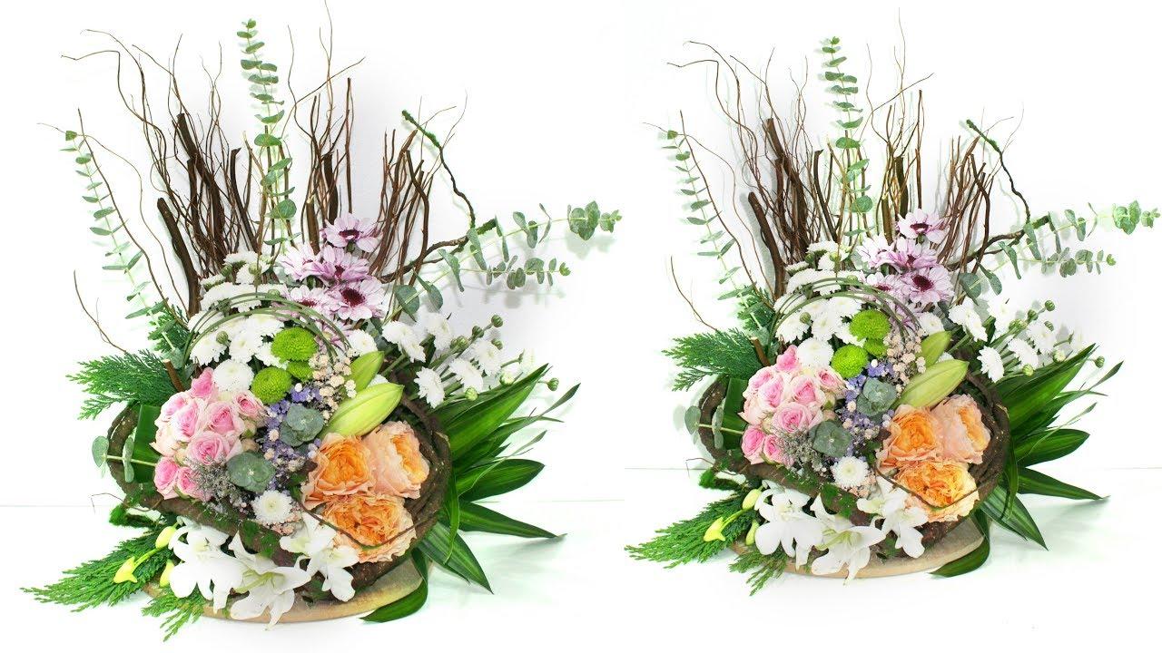 A New Arrangement Flower New Ideas Flower Arrangement Tutorial Youtube