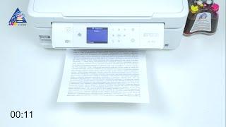 Epson L810: тест на скорость печати текста. Режим \