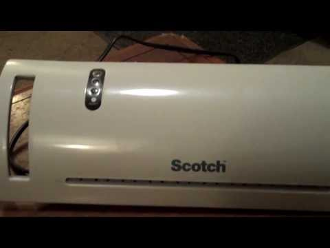 Scotch Laminator First Attermpt To Laminate