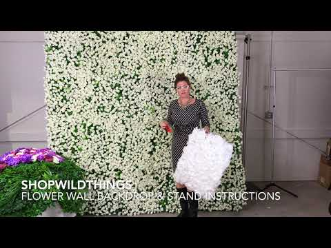 ShopWildThings Free Video Tutorial How To Make A DIY Flower Wall Backdrop Stand