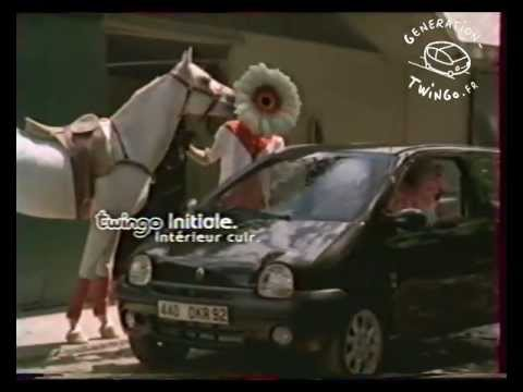 publicit twingo initiale cheval 2003 france youtube. Black Bedroom Furniture Sets. Home Design Ideas