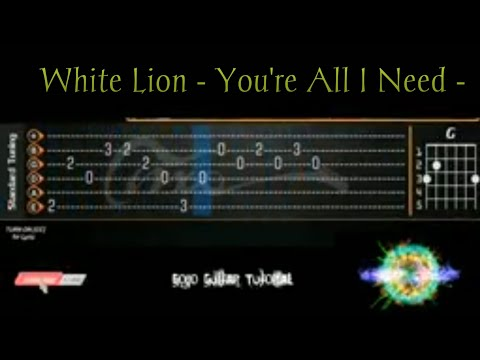 White Lion - You're All I Need - Guitar Cover With TABS