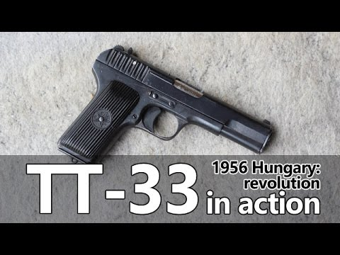 TT-33 pistol in action - Guns of the 1956 Revolution Part III