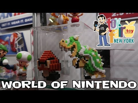 World of Nintendo Figure Display Jakks Pacific at New York Toy Fair 2018