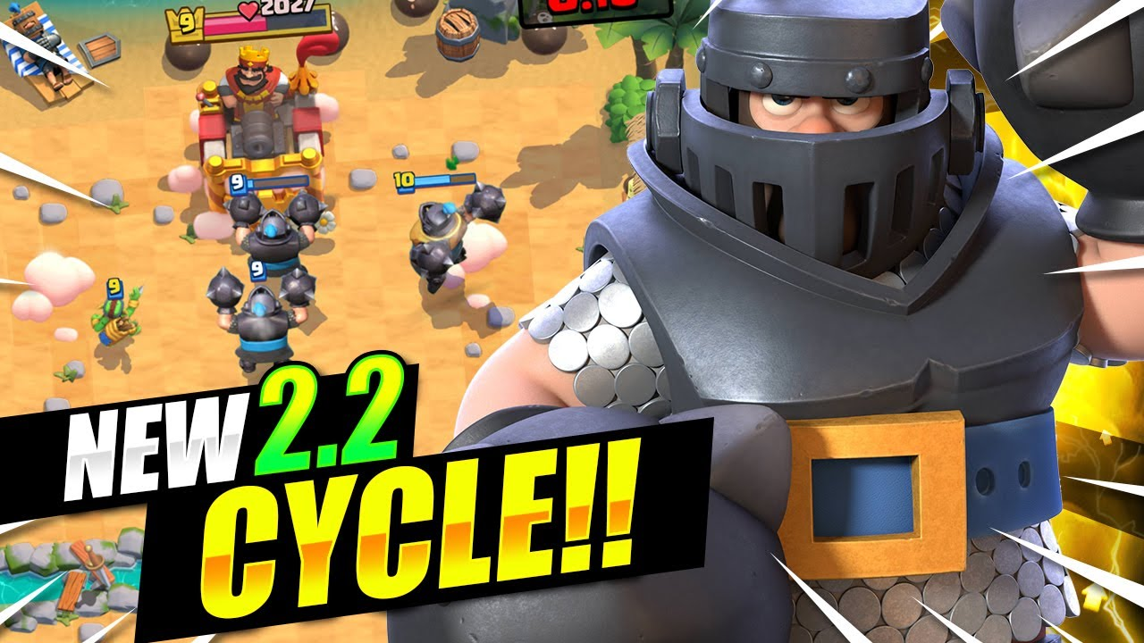 FASTEST MEGA KNIGHT DECK EVER!! 2.2 CYCLE!! THIS IS INSANE!!