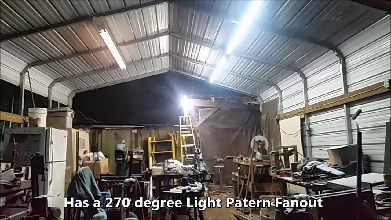 8 foot led integrated fixture bulbs vs 8 foot fluorescent bulbs led wins