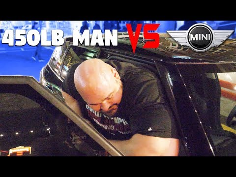 TRYING TO FIT INTO A MINI COOPER *6'8' 450LBS* | BREAKING CHAIRS | CRYOGENIC CHAMBER