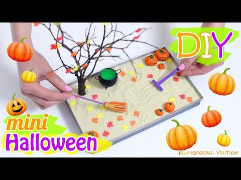 How To Make A Miniature Halloween Zen Garden – DIY Stress-Relieving Desk Decoration