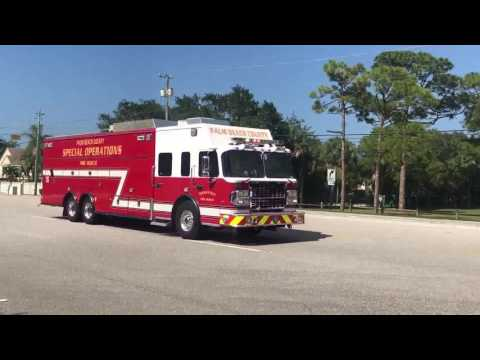 *RARE* Palm Beach County Fire-Rescue Special Operations 19 Responding!!!!