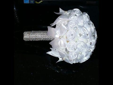 صنعت بوكيه ورد أبيض للعروس راائع بديكور حديث وجذاب وسهل للغاية