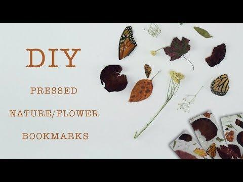 DIY || Pressed Nature/Flower Bookmarks