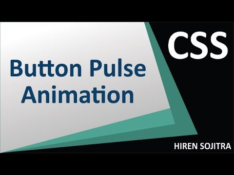 Circle Button With Pulse Animation Using CSS #26 (by Hiren Sojitra)